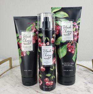 Bath and Body Black Cherry Merlot mist cream wash